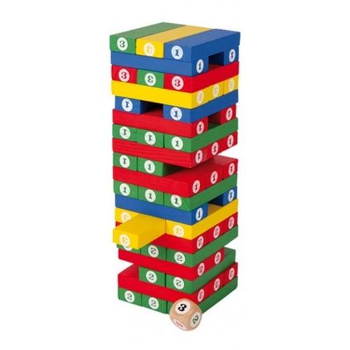 Torre de Números de Madera