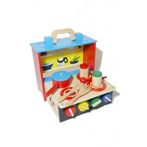 jouet de cuisine en bois portable pour les filles d 39 origine. Black Bedroom Furniture Sets. Home Design Ideas