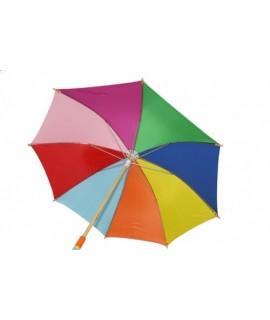Paraguas infantil de madera Arcoíris. Medidas: 74xØ86 cm.