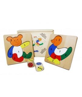 Puzzle de madera Dado 3 en 1
