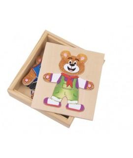 Puzzle de madera Oso para Vestir