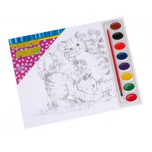 Set de Pintura para manualidades. Medidas totales: 22x28 cm.et de Pintura