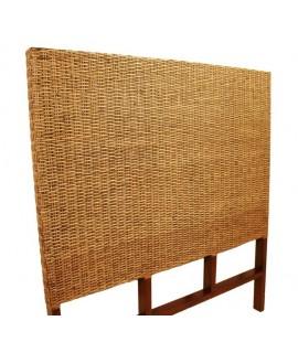 Cabezal de cama madera y ratán