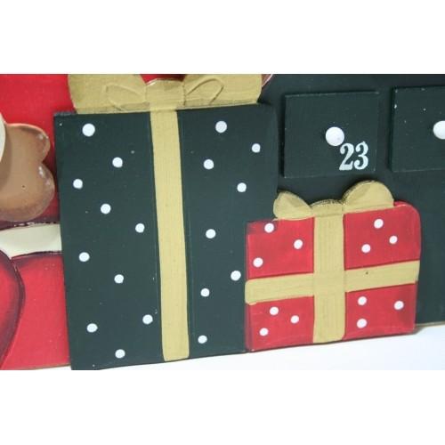 Calendario adviento de madera decoraci n navide a - Calendario adviento madera ...