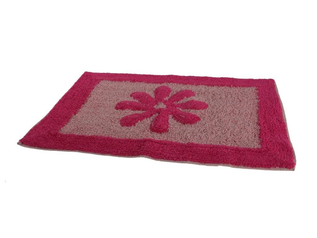 Coton Tapis De Bain Fleur Rose Cadeau Original