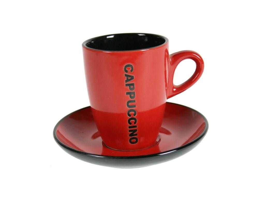 Taza de caf color rojo con plato tiles de cocina for Tazas cafeteria