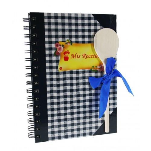 Libreta para Recetas Cocina color Azul