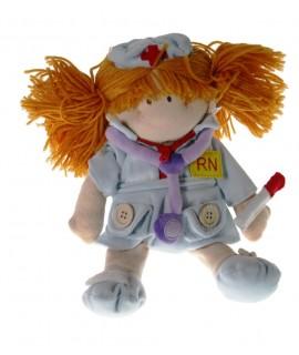 Muñeca de Tela Profesión Enfermera