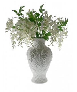 Florero de cerámica blanca
