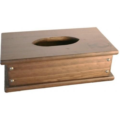 Caja de madera para pañuelos