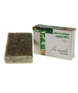 Jabón exfoliante 100% vegetal Té Verde