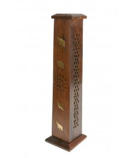 Quemador vertical de madera para incienso