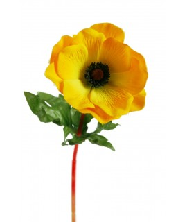 Flor artificial Anemona Amarilla