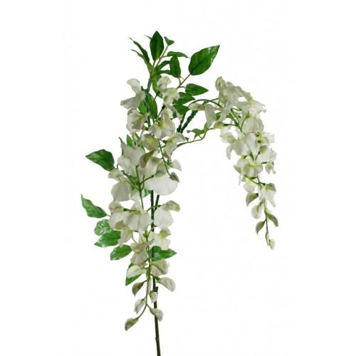 Flor artificial Wistéria blanca