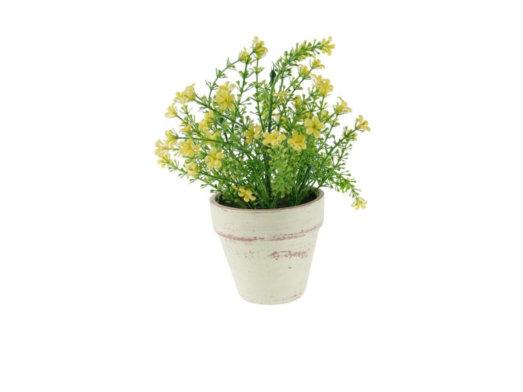 Maceta con flores color amarilla decoraci n hogar - Flores de maceta ...