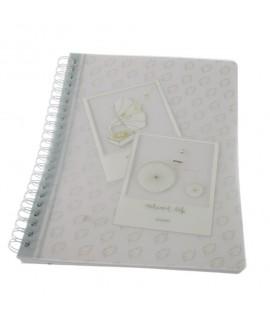 Libreta A4 Tapa rigida plástico Hojas blancas