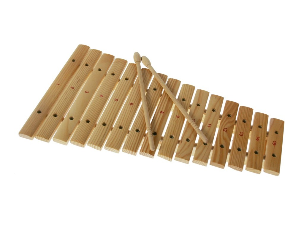 Xylophone en bois jouet musical traditionnel 15 notes for Construction xylophone bois