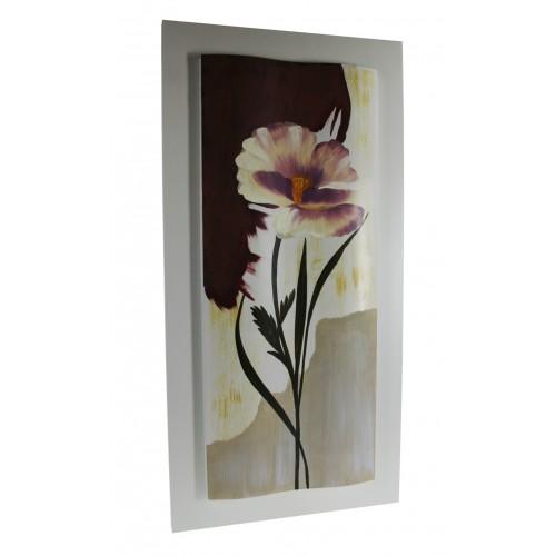 Cuadro pintura óleo flores