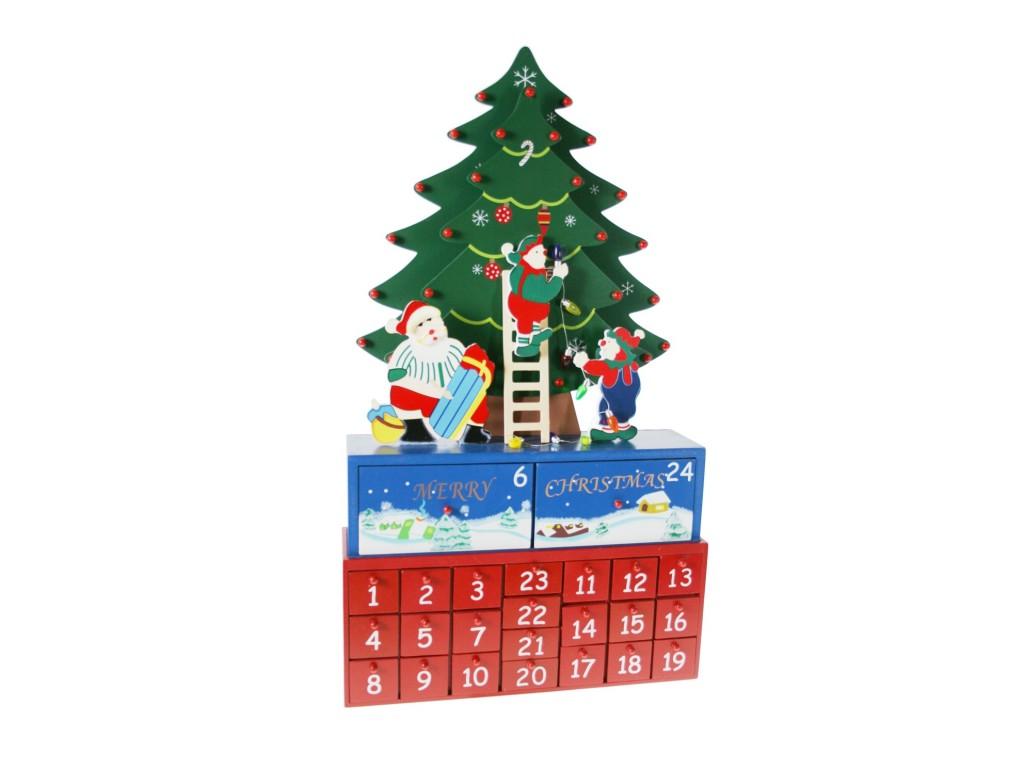 Calendario adviento de madera rbol de navidad decoraci n - Calendario adviento madera ...