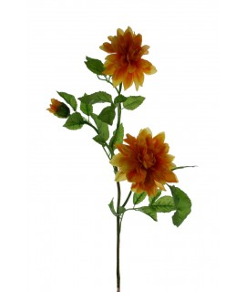 Flor artificial Dalia amarilla