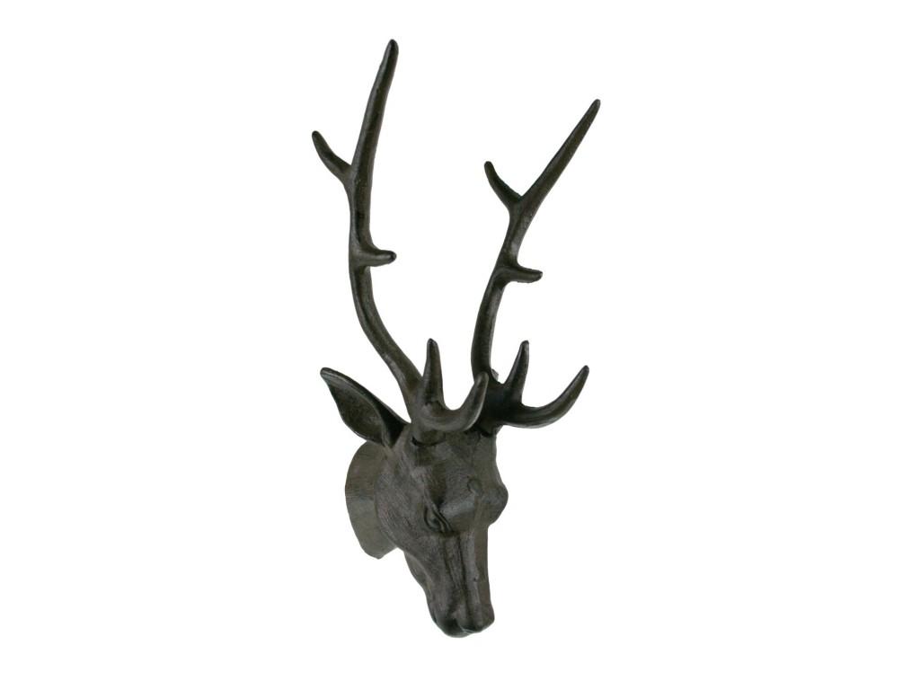 Cabeza de ciervo de hierro colado decoraci n hogar r stico - Cabeza de ciervo decoracion ...