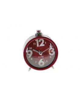Reloj despertador color rojo