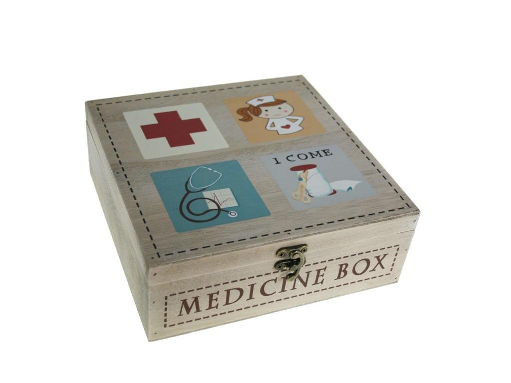 Botiquin Para Baño De Madera:Caja de madera para medicinas original regalo