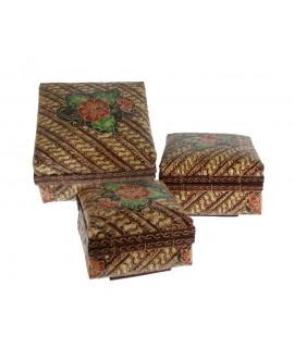 Caja de palma conjunto de tres