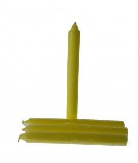 Vela básica color amarillo
