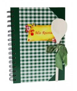 Libreta para Recetas Cocina -VICHY color Verde
