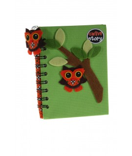 Libreta Notas infantil Tapa Tela color Verde