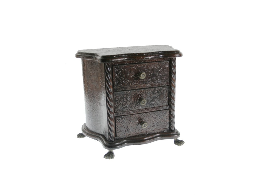coffret bijoux avec tiroirs similicuir texture. Black Bedroom Furniture Sets. Home Design Ideas