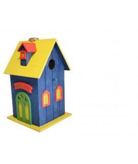 Casita-nido de pájaros -color Azul-