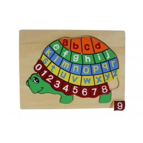 Puzzle Tortuga 37 piezas de Madera