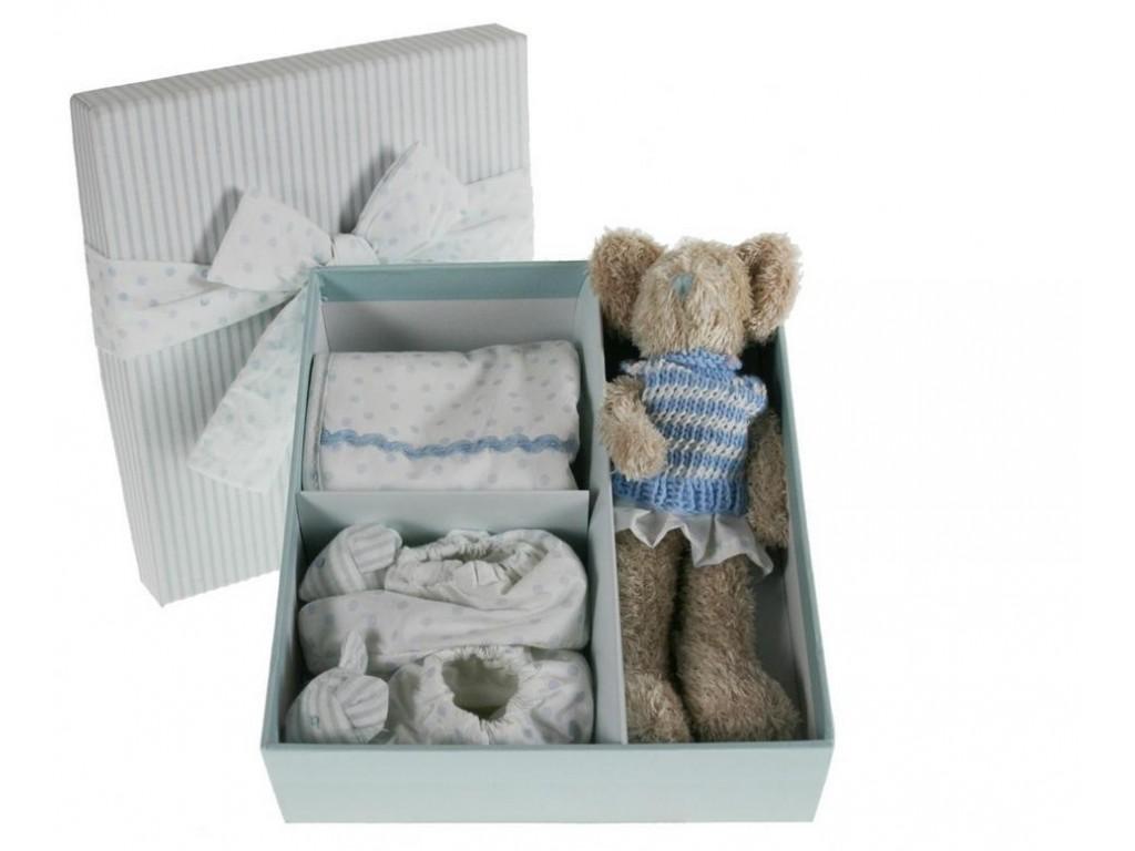 coffret cadeau avec rose bleu accessoires b b. Black Bedroom Furniture Sets. Home Design Ideas