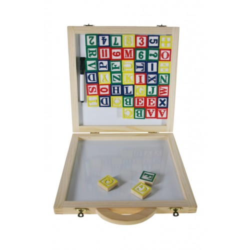 Caja de madera con Letras Imán