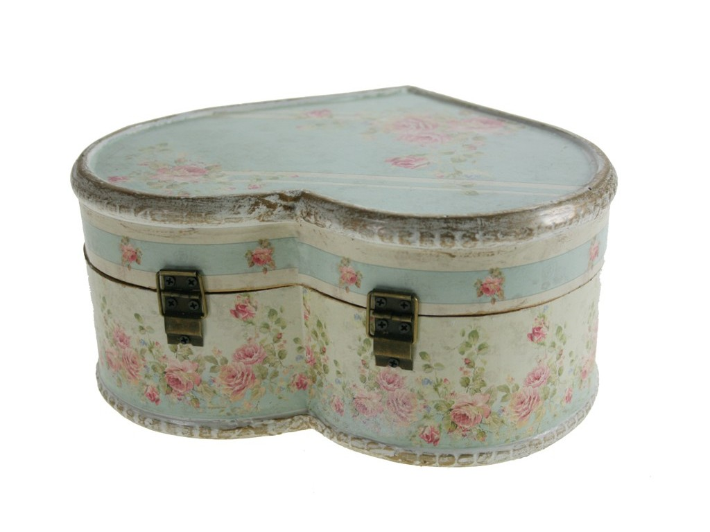 Caja de madera coraz n peque a for Cajas de madera pequenas