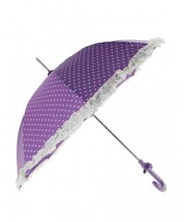 Paraguas infantil estampado topos color lila
