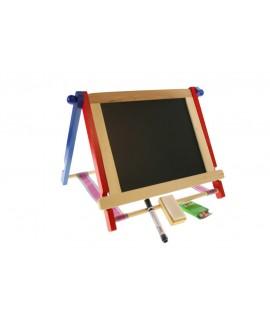 Pizarra reversible con tiza y esponja. Medidas totales: 36x42x30 cm