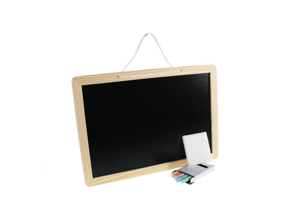 Comprar online pizarra peque a de madera con tizas coloridas - Pintura de pizarra para pared ...