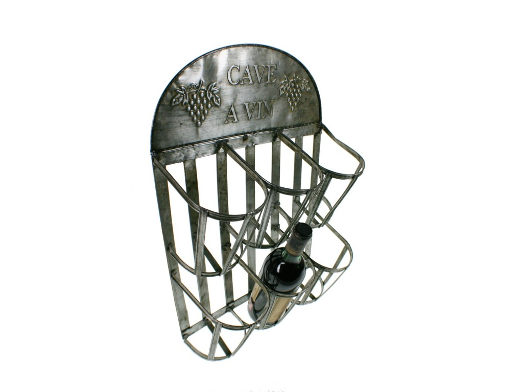 Botellero de metal para colgar - Botellero de pared ...