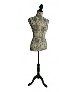 Galán de noche maniquí o busto para costura. Medidas totales: 165x33x23 cm.