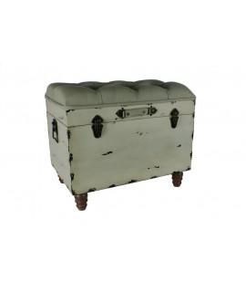 Baúl de madera con asiento
