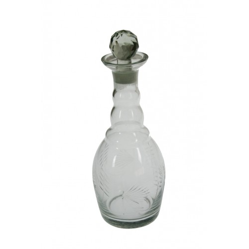 Botella de vidrio tallado- Estrecha