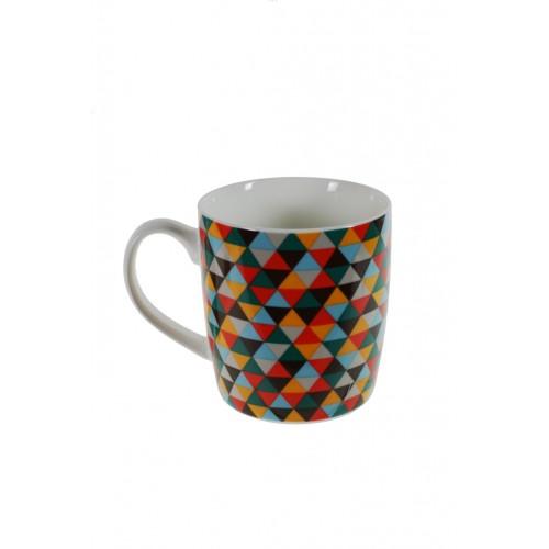 Mug porcelana geométrico