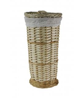 Porta-rotlles vímet per bany color natural