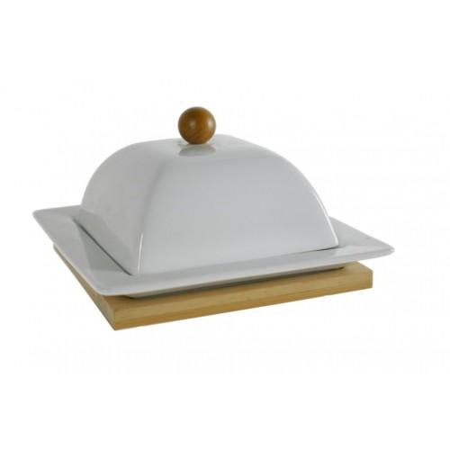 Mantequillera de porcelana