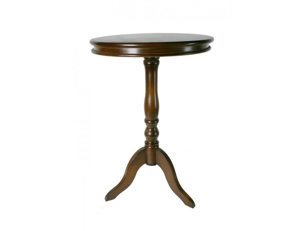 Oriental gu ridon en bois dans un d cor rustique acajou for Table d appoint fly