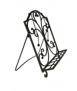 Atril de hierro plegable color negro