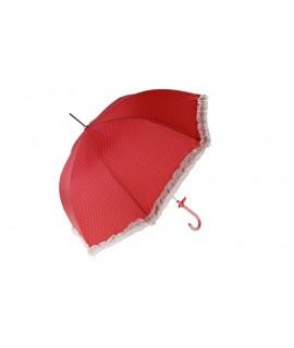 Paraguas Sra. de color rojo con volantes
